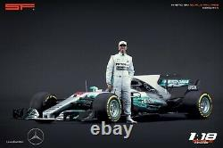 118 Lewis Hamilton figurine VERY RARE! NO CARS! For Mercedes F1 by SF
