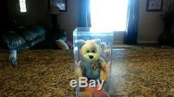 1996 Ty Beanie Babie Very Rare PEACE BEAR orig. Collectible with Tag Errors