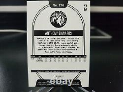 2020-21 Panini NBA Hoops ANTHONY EDWARDS /70 Blue # 216 Rookie RC VERY RARE