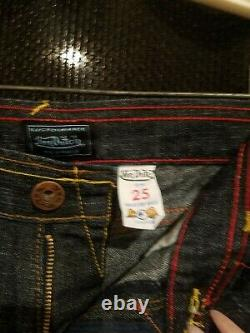 Authentic Vintage Von Dutch RARE Embroidered Jeans Size 25 Very cool
