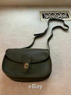 Brand Nwot Vintage Coach Prairie Shoulder Bag In Forest Green #9954. Very Rare