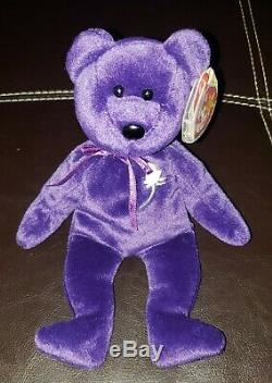 Collectible Ty Beanie Baby, (Princess Diana Bear) Very Rare! MWMT! WithErrors! NEW
