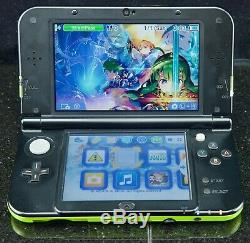 Dual IPS New Nintendo 3DS XL Console Lime Green Special Edition Box VERY RARE