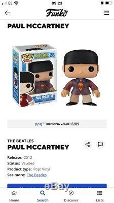 Funko Pop The Beatles Set Of 4 Very Rare Vaulted Over £600 On PPG
