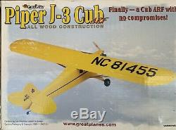 Great Planes Piper J3 Cub ARF. Very RARE and Hard To Find
