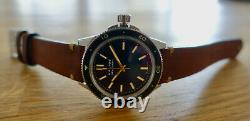 Halios Seaforth Black Gilt No Date Watch Diver 1st Series like new very rare