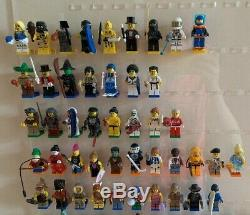 Lego Collectable Minifigures Bundle Series 1-15 + Custom Display Stand Very Rare