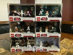 Lego Star Wars Sdcc Collectible Display Complete Set Of 6 Afa Case Very Rare