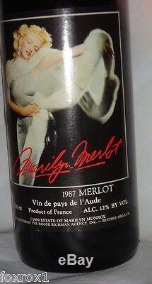 Marilyn Monroe Merlot 1987 French Red Wine 3rd Vintage Mint 750 ML New Very Rare