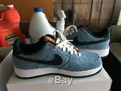 NEW Nike By You Nike Air Force 1 x Levi Denim Blue CI5766-994 Size 8.5 VERY RARE