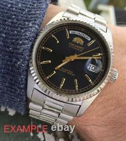 NWT! VERY RARE Orient Datejust Automatic BLACK Dial President Watch LAST ONE