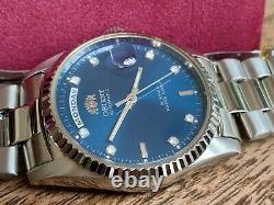 NWT VERY RARE Orient Oyster President DateJust Homage BLUE Dial LAST ONE