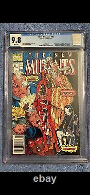 New Mutants #98 CGC 9.8 NM/MT (WHITE Pages, 1st Deadpool) NEWSTAND VERY RARE