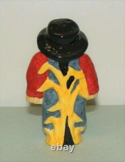 Nora Fleming Mini Scarecrow Retired Original Old Style nf Markings Very Rare