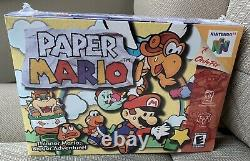 Paper Mario Nintendo N64 FACTORY SEALED Video Game New in Box! Very RARE