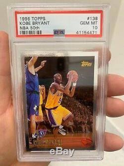 Psa 10 Topps Nba 50 All Foil Kobe Bryant 1996 Very Rare Rookie Low Population