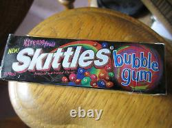 SKITTLES Xtreme Fruit Bubble Gum (4) Sealed Collector Packs (Very Rare!)