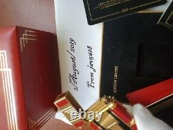 St Dupont Lighter Art Deco Line 2 New, Gold, Very Rare, Bnib, From 1996 Untoched
