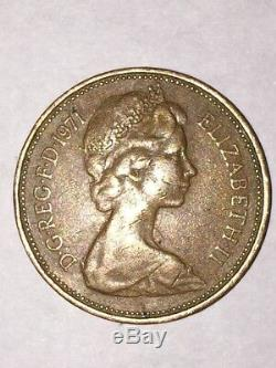 Very RareGreat Condition/Circulated 1971 new pence 2c coin