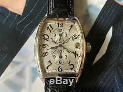 Very Rare Franck Muller Master Banker 2852 MB Silver Dial Watch with New Strap