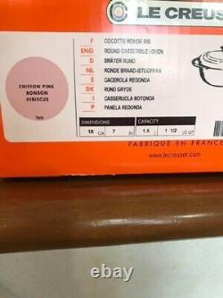 Very Rare! Le Creuset Cocotte Viscosity Chiffon Pink Color 180mm Unused