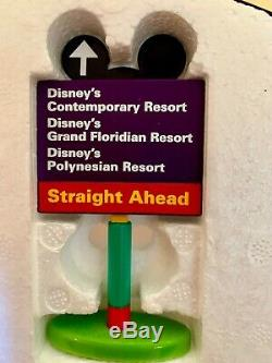 WDW Disney Parks Monorail Playset Accessories 5 Resorts Signs Very RARE. MINT