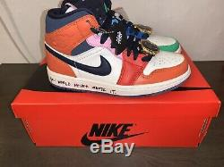 Womens Air Jordan 1 Mid FearlessMelody Ehsani Size 5w 3.5y In Kids Very Rare